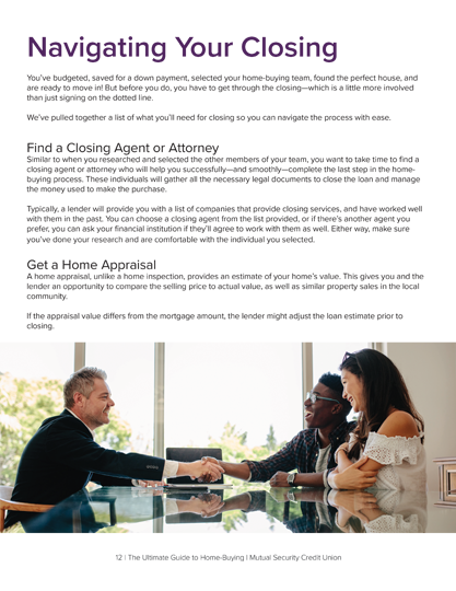 How to navigate your mortgage closing